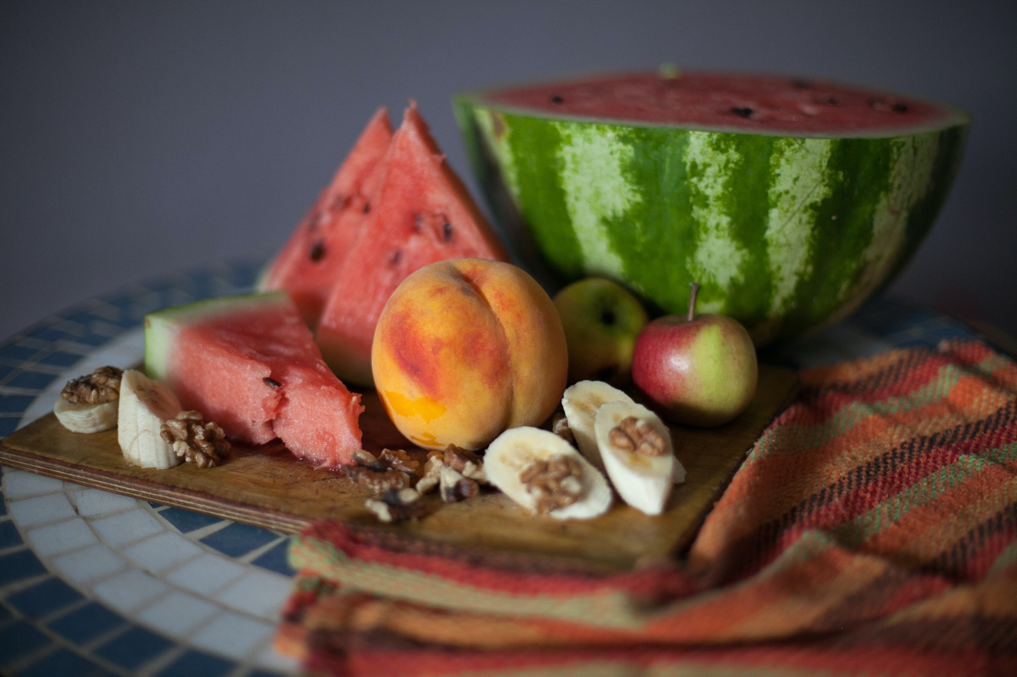 sliced watermelons on top of chopping board